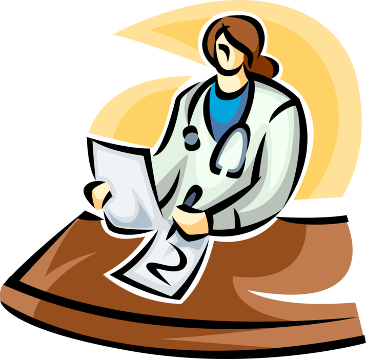 Professional clipart professional doctor. Updates patient medical chart