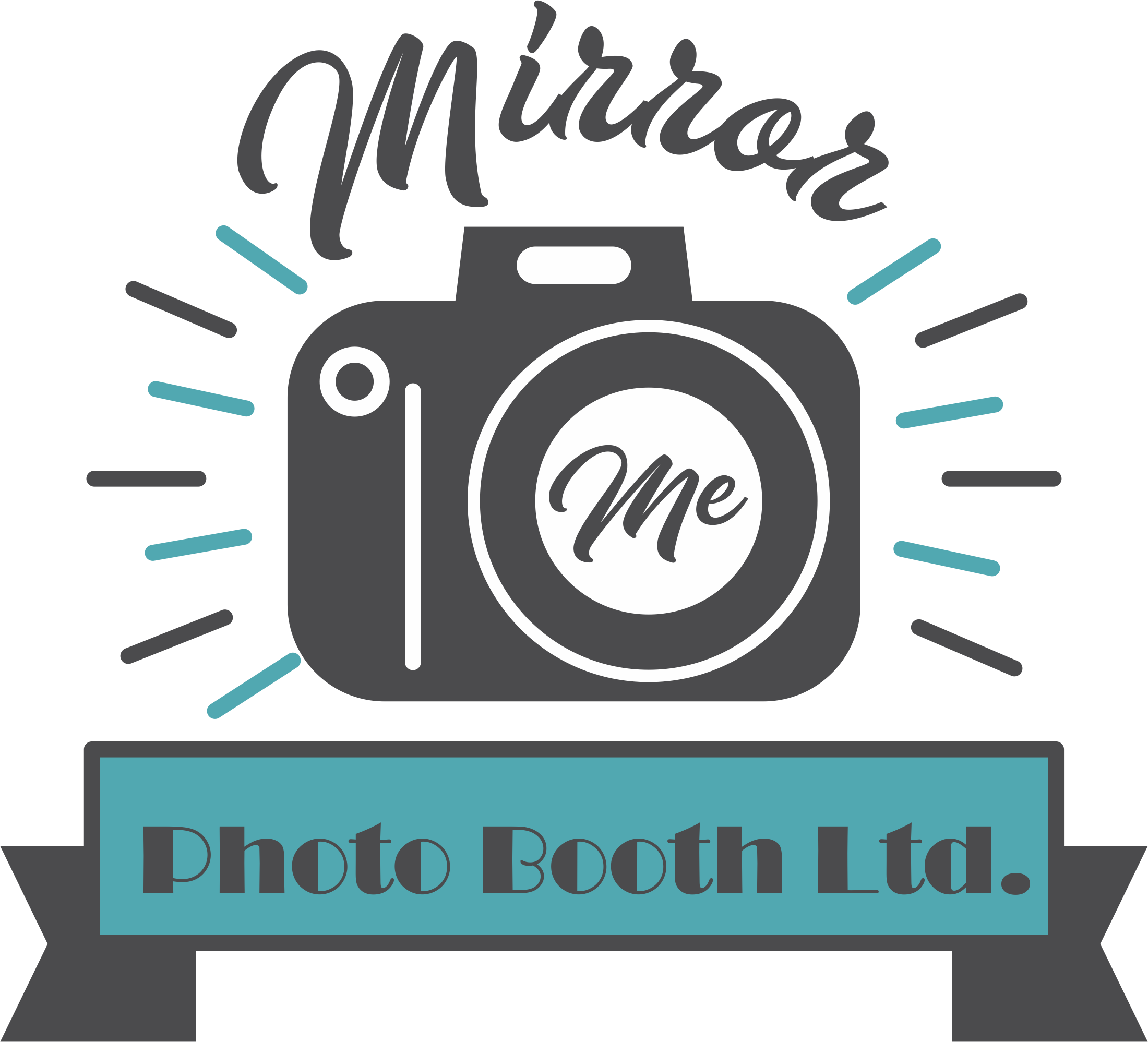 Mirror me photo booth. Photographer clipart press conference