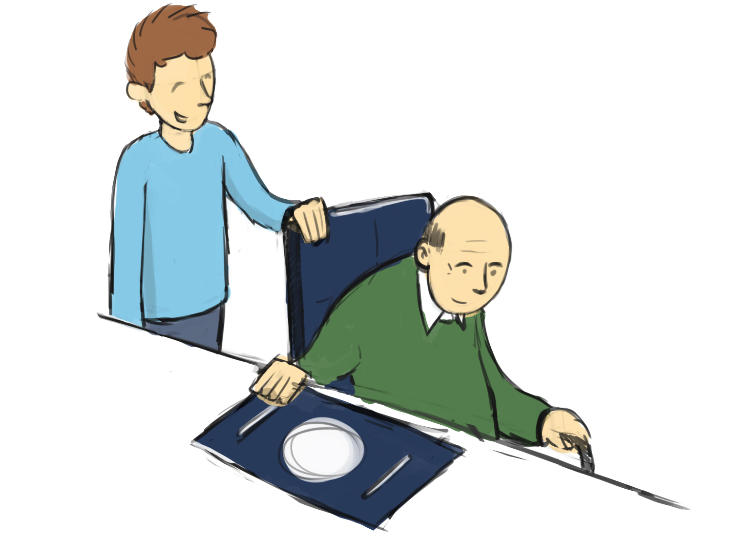 Patient care frames illustrations. Memories clipart dementia