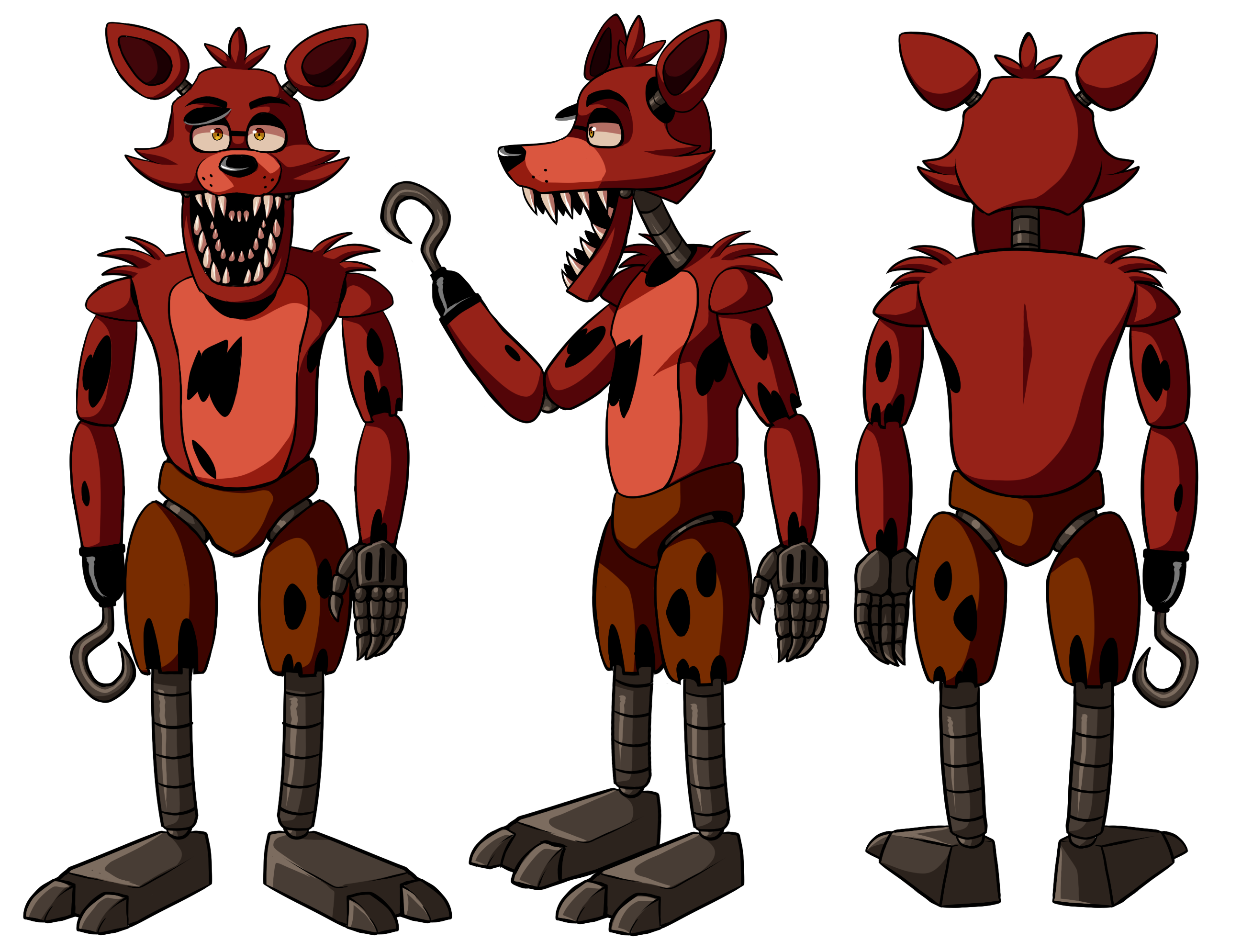 Unofficial foxy reference guide. Youtube clipart fnaf
