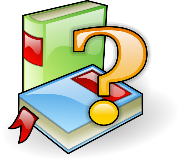 Help Books Clip Art at Clker
