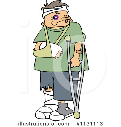 Injured illustration by djart. Injury clipart