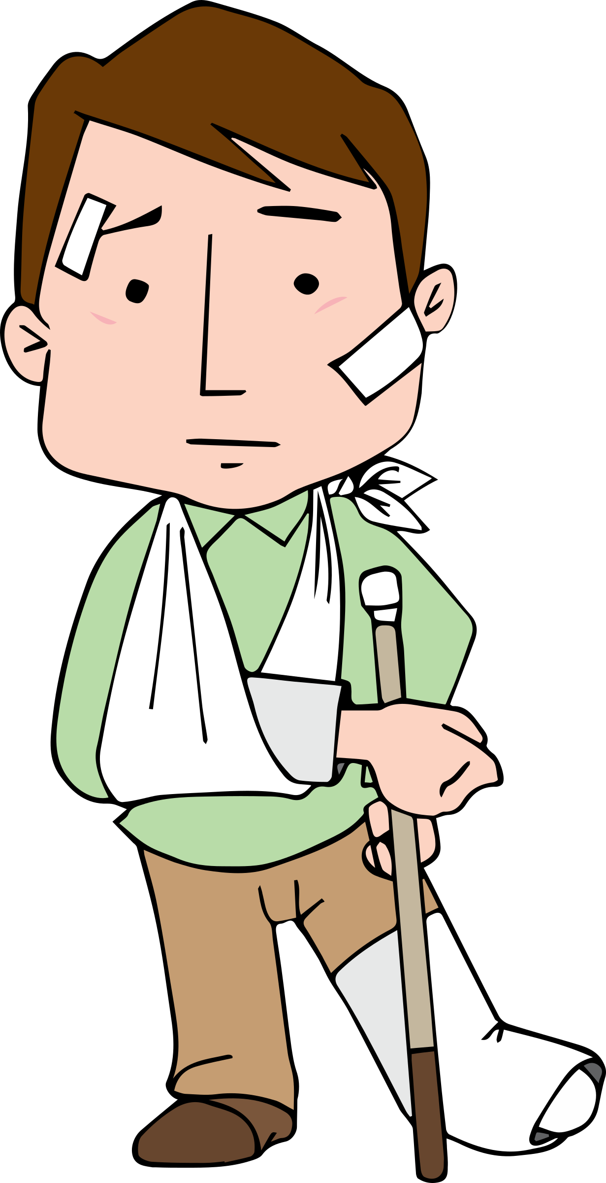 Hurt clipart. Injured big image png