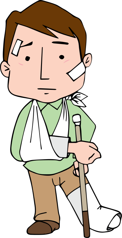 Hurt clipart injured patient. Medium image png