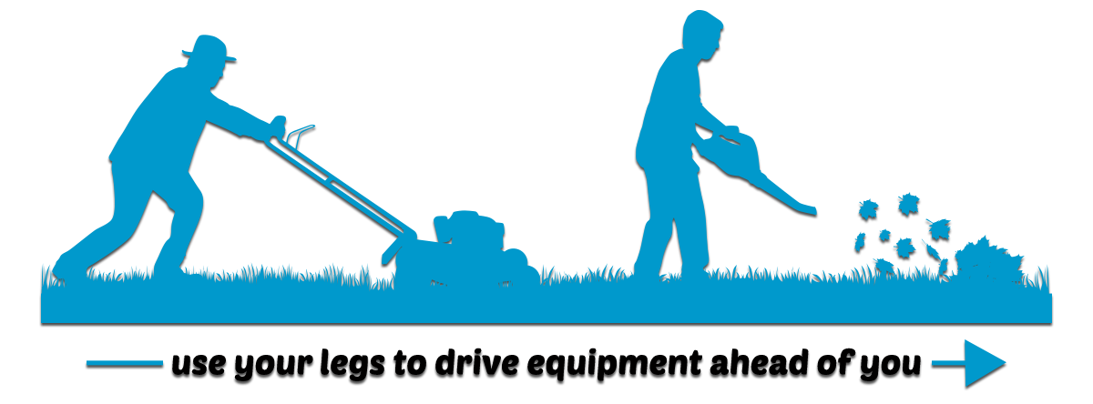 Tips to prevent injury. Working clipart yard work
