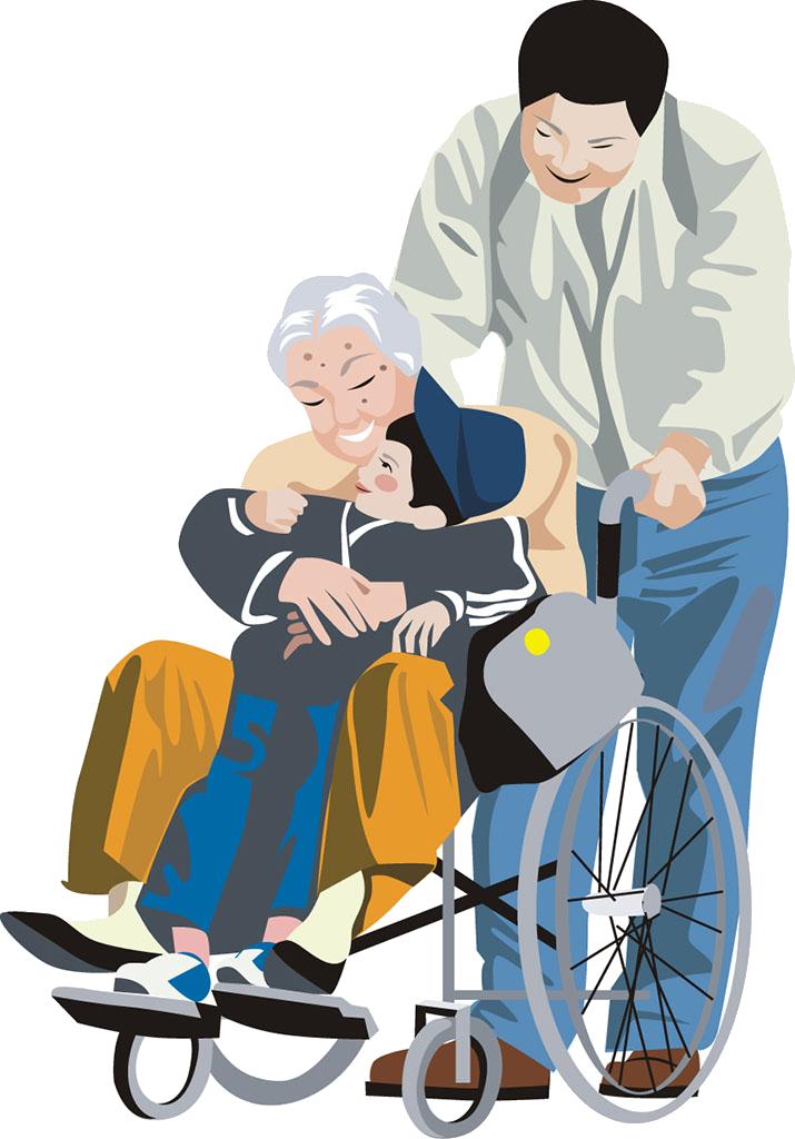 Wheelchair sitting clip art. Injury clipart disability person