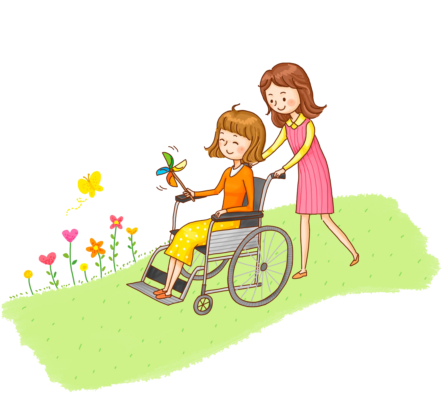 Wheelchair illustration a man. Injury clipart disability person