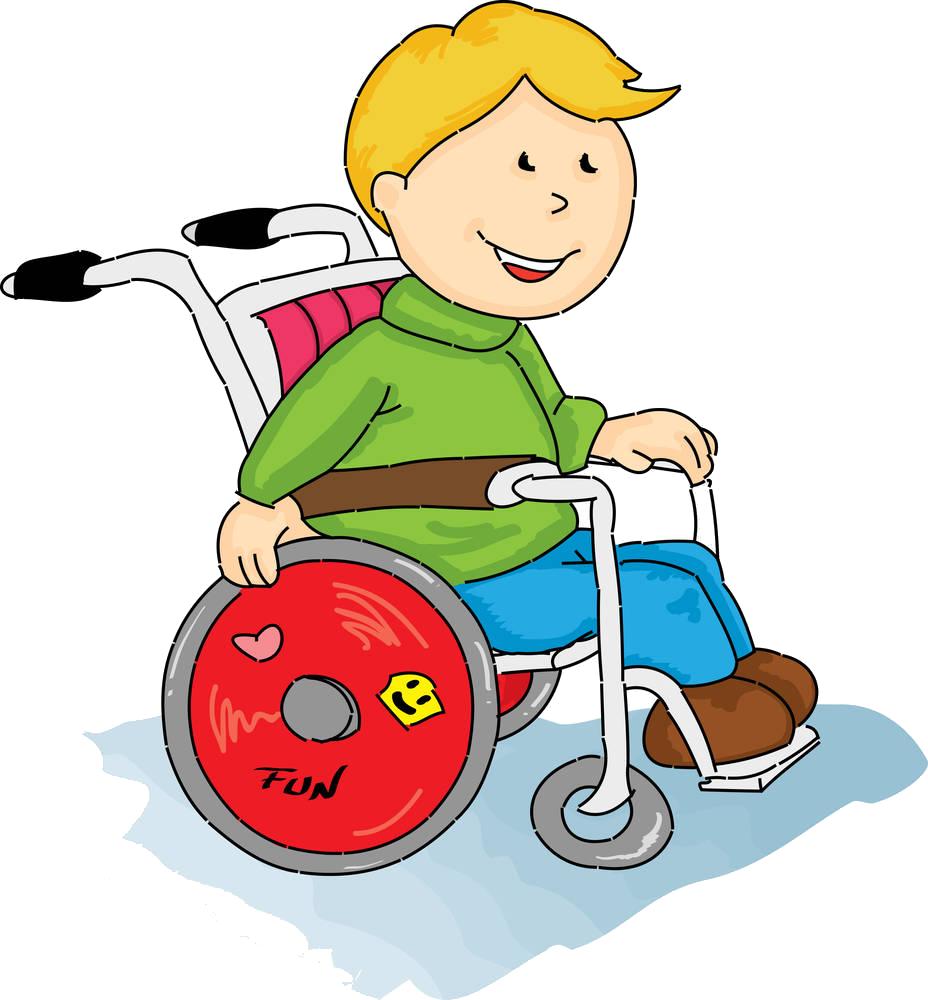 Wheelchair cartoon illustration a. Injury clipart disability person