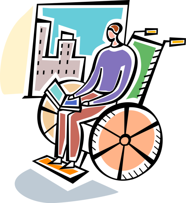 Injury clipart disabled person. Online access by user