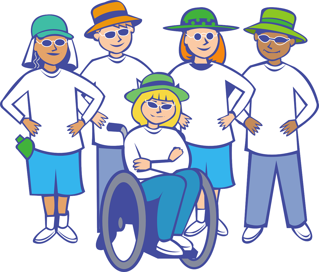 Collection of free disabilities. Injury clipart disabled person