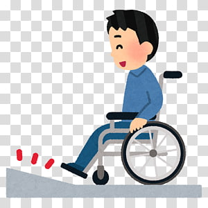 Wheelchair ramp barrier free. Injury clipart disabled person