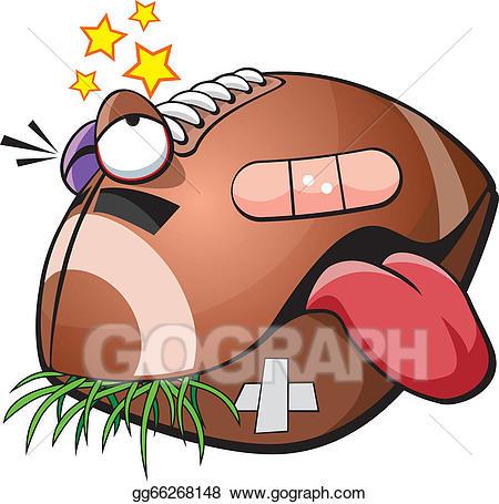 Injury clipart football injury. Vector stock illustration