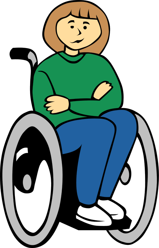 View from the handicapped. Injury clipart handicap person
