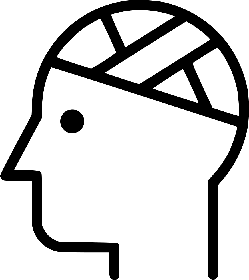 Psychology clipart intellectual. Patient injury bandaged head