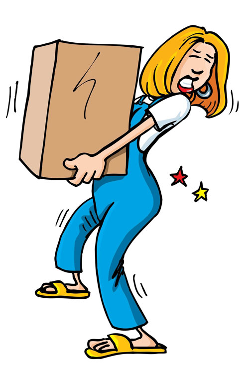 Injury clipart heavy load. Back sprain and pain