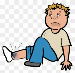 Sprained ankle tripping png. Injury clipart injured child