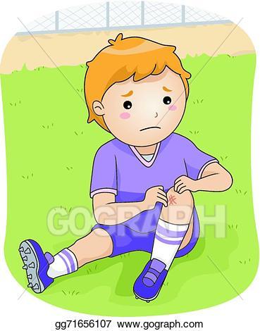 Vector stock football illustration. Injury clipart injured child