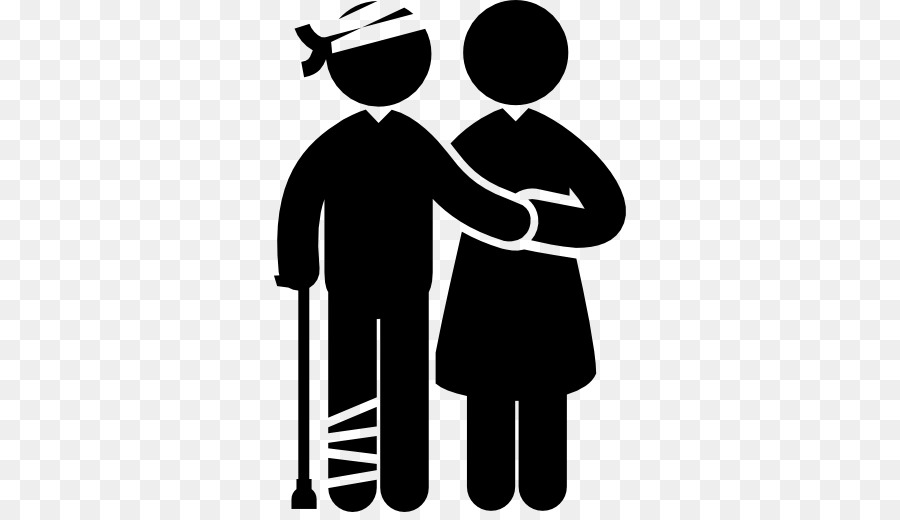 Injury clipart injured person. Medicine cartoon man silhouette