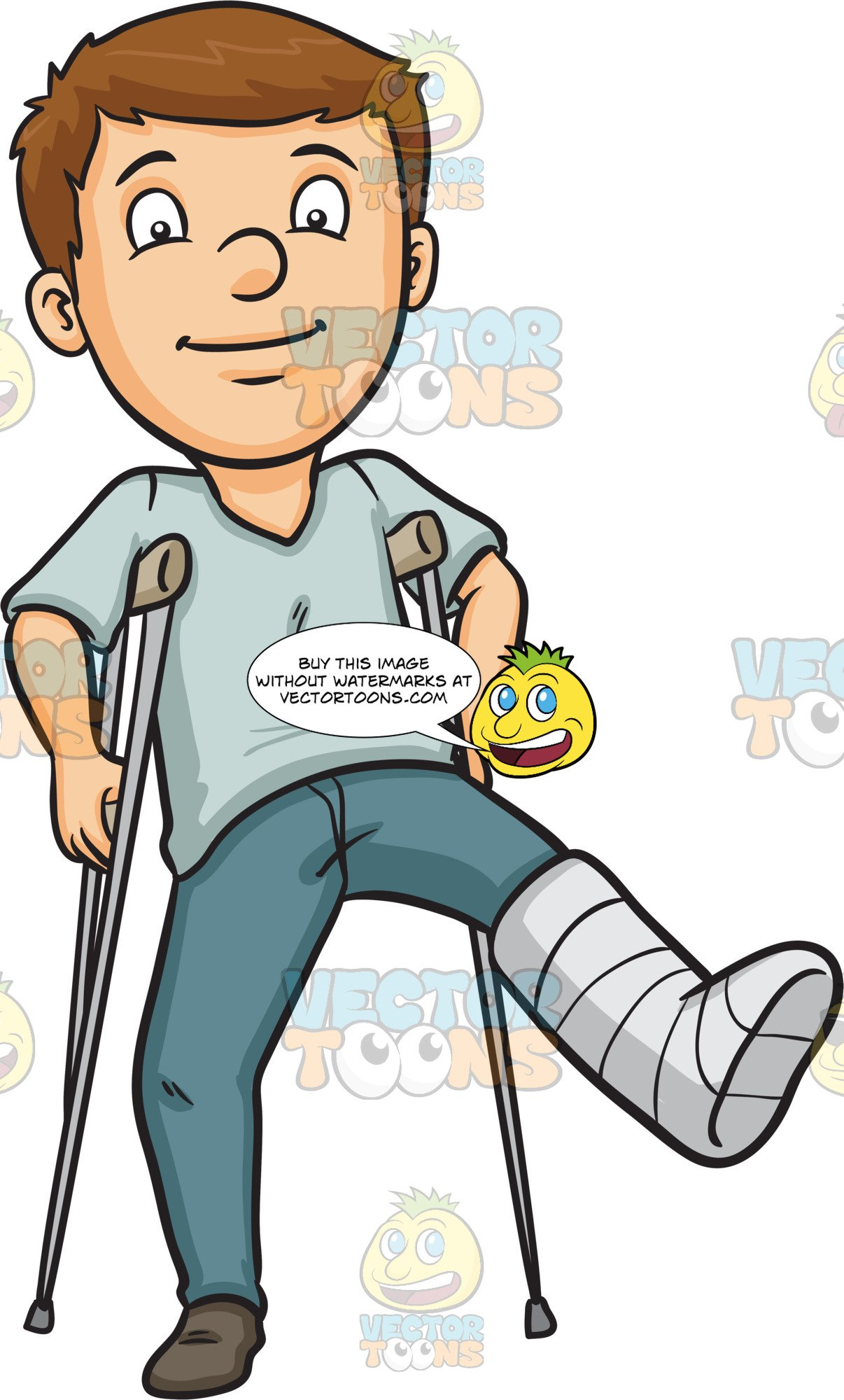 Break a . Injury clipart leg injury