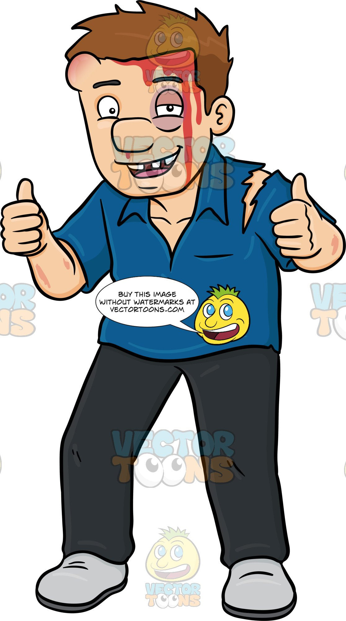 Injury clipart obvious. A man saying he