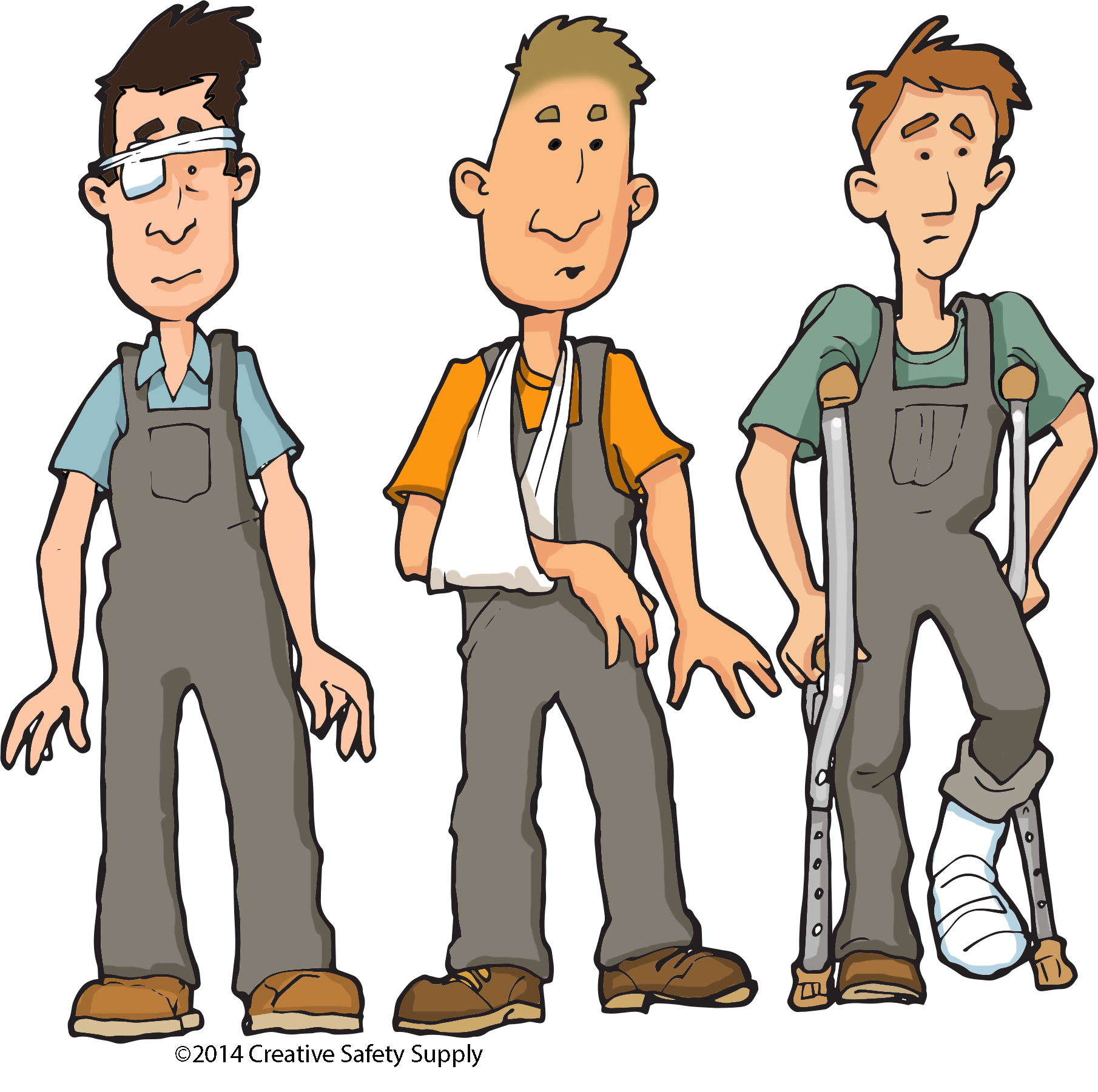 Working clipart health safety. Work accident proneness clip