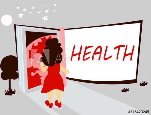 Handwriting text writing health. Injury clipart physical illness