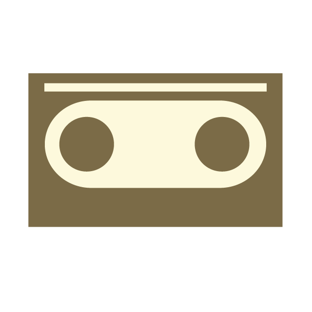 Free illustration material picture. Video clipart video cassette