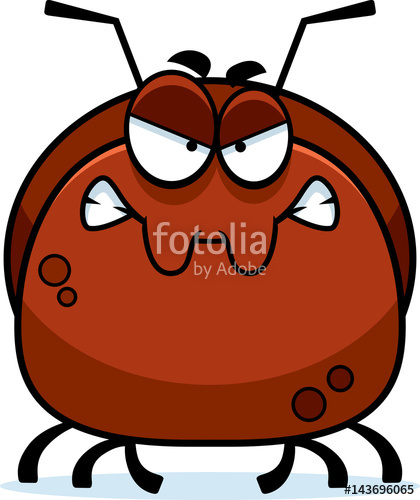 Insect clipart angry. Little ant stock image