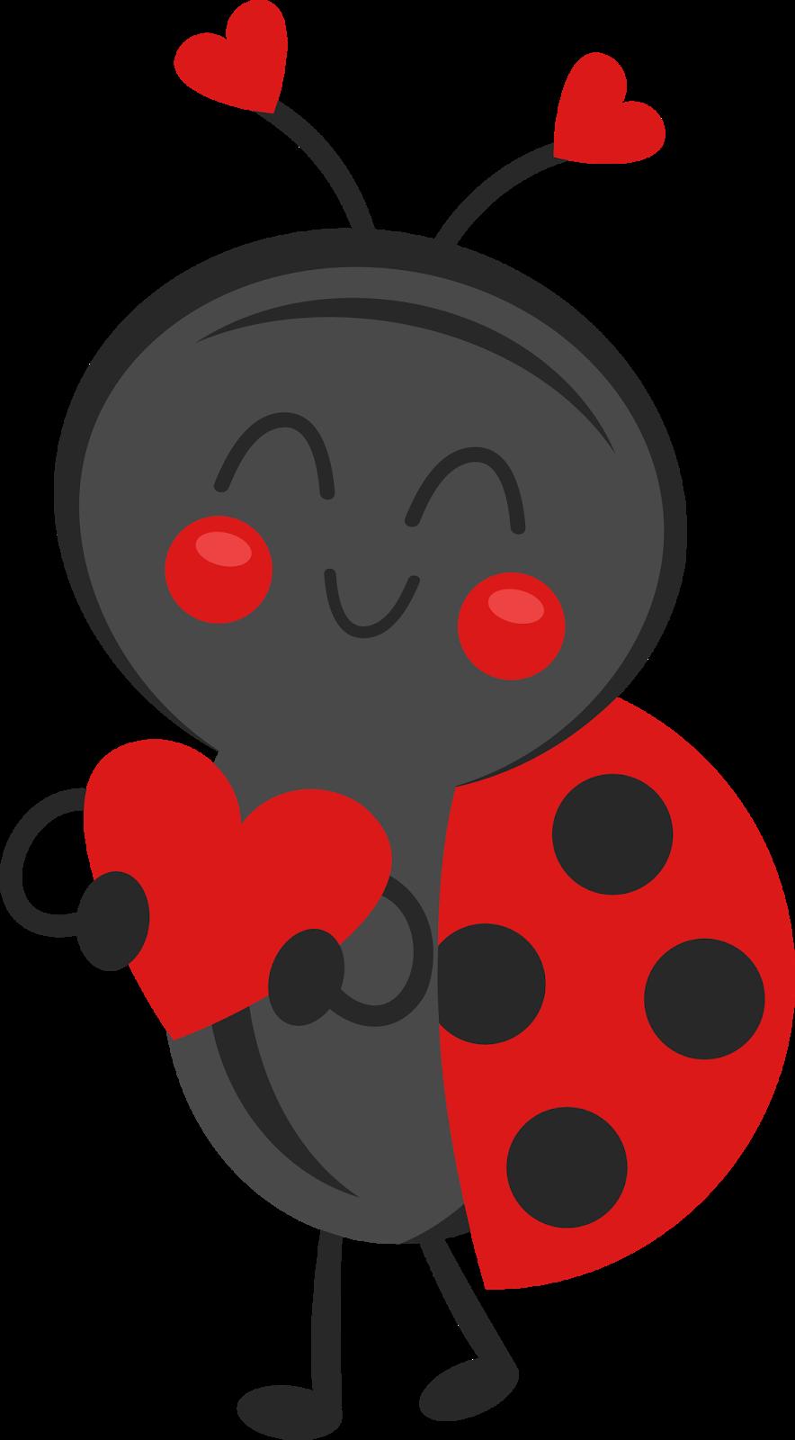 Lady beetle scrapbook bugs. Ladybug clipart valentine