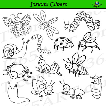 Station . Insects clipart black and white