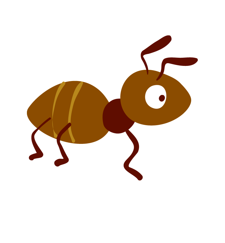 insects clipart brown ant