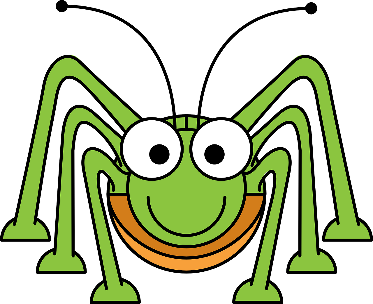 Caterpillar cricket png image. Insect clipart bug