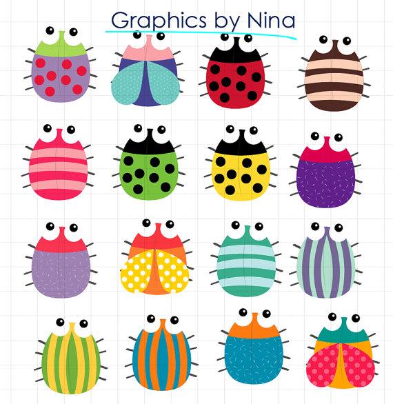Insect clipart colorful bug. Para venta inmediata bugs