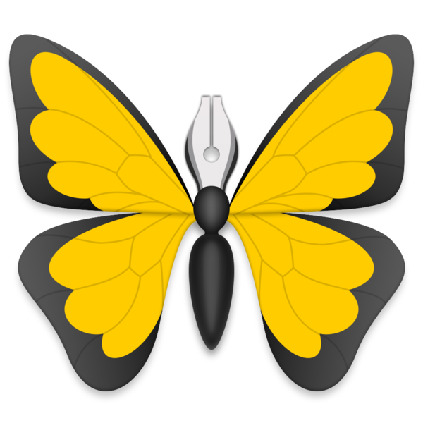 Ulysses on the mac. Insect clipart colorful bug