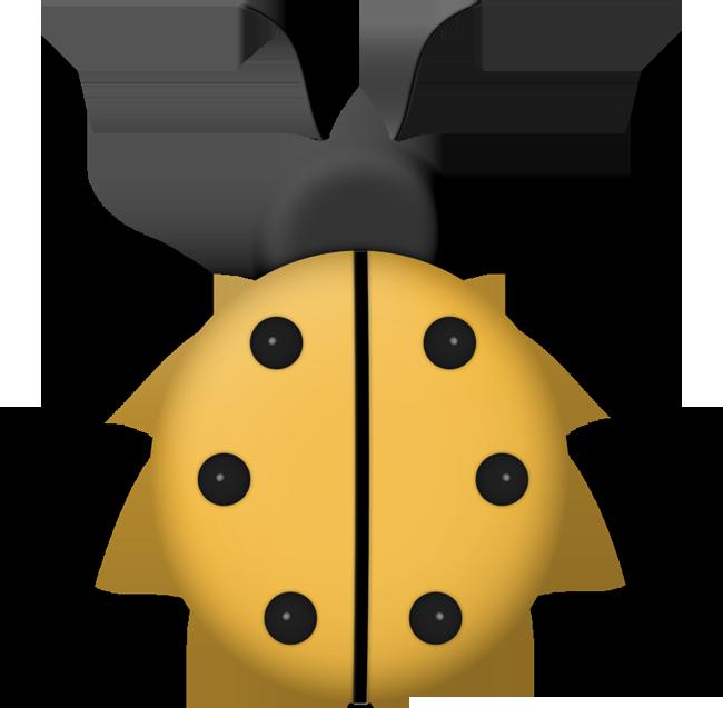 Dbs png pinterest ladybird. Ladybugs clipart yellow ladybug