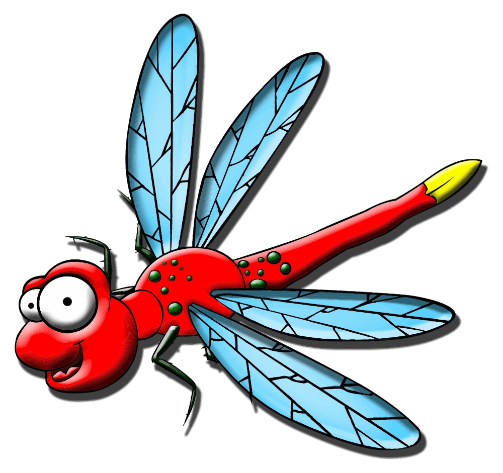 Insects clipart dragonfly. Onlinelabels clip art cartoon