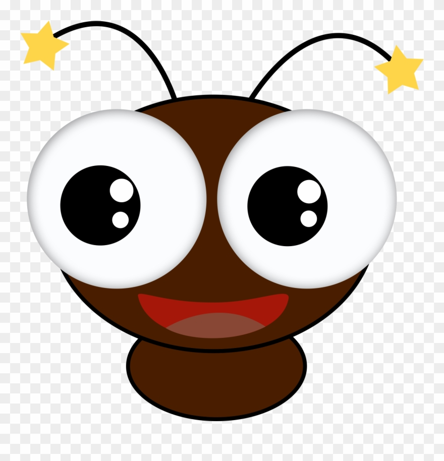 Course big eyed bug. Insect clipart face