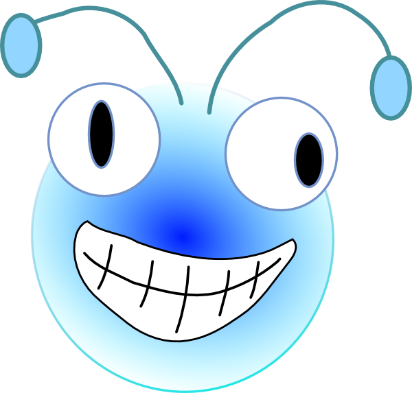 Cartoon bug head clip. Insect clipart face