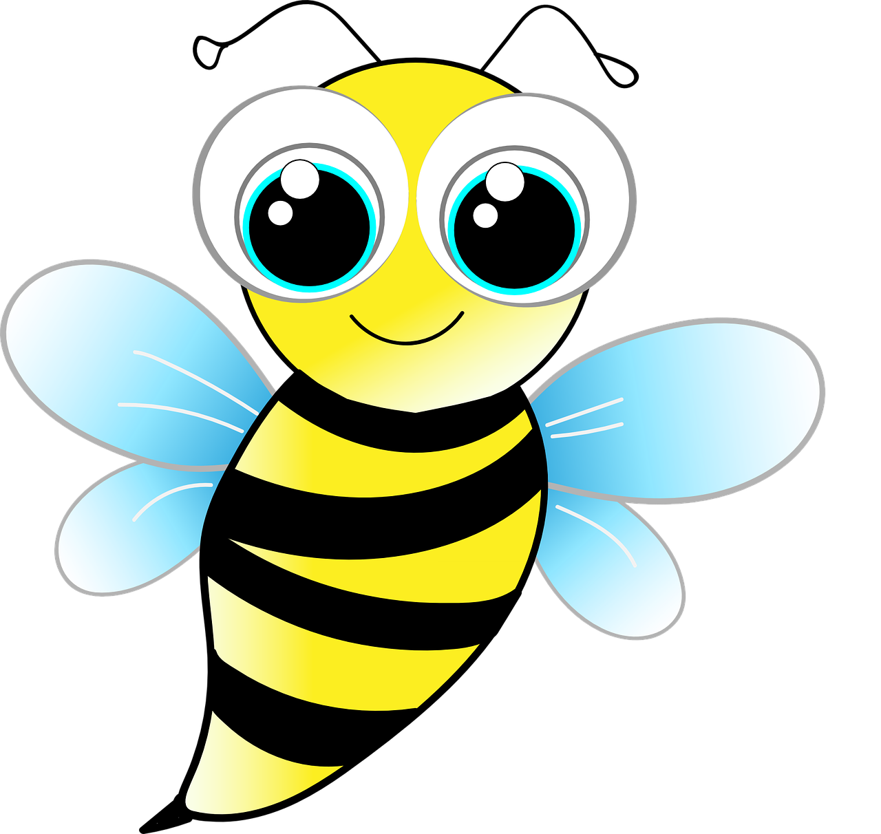 Bee wasp funny cute. Insect clipart fly