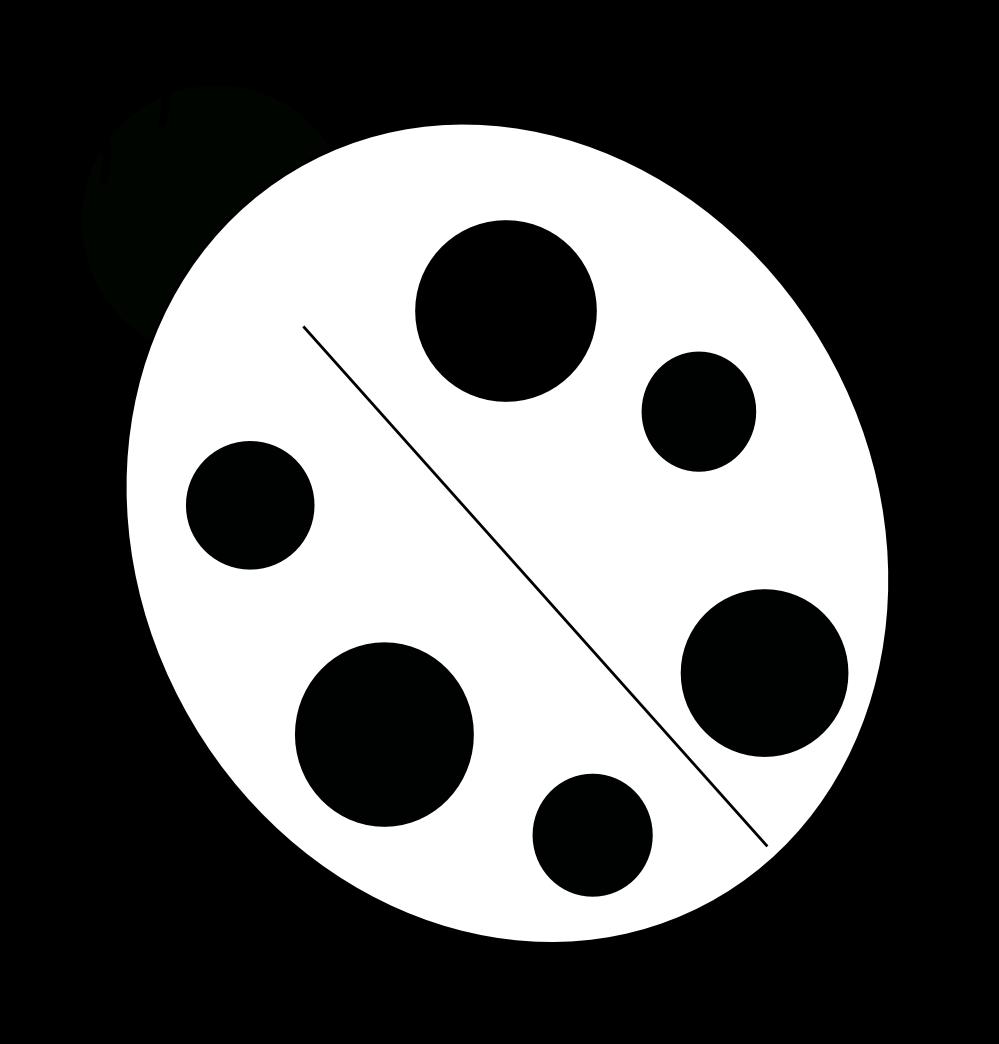 Ladybug black white line. Net clipart insect net