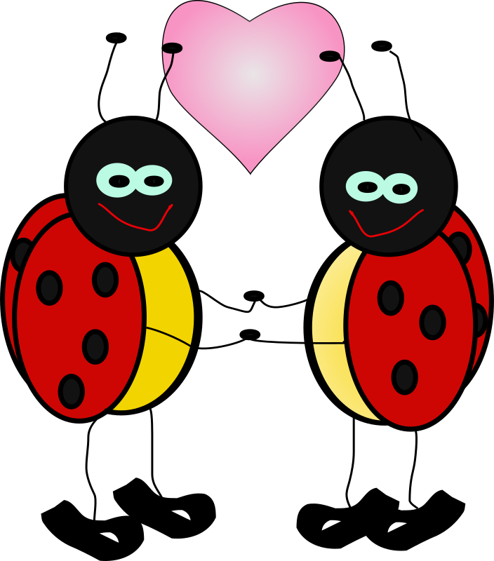 Insect clipart happy. Lady bugs medium image