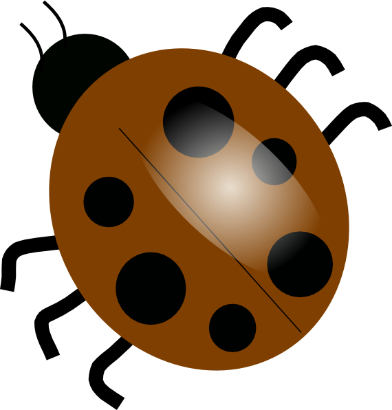 Ladybugs clipart eye. Brown clip art at