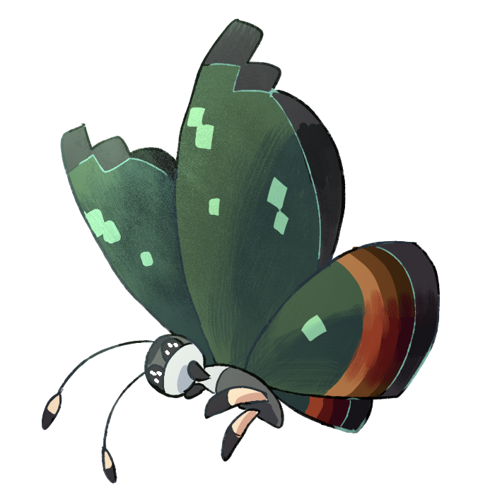Insect clipart jungle. Type collab vivillon by