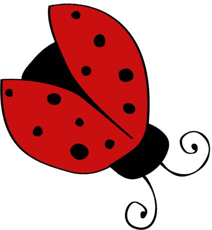 Single with open wings. Ladybugs clipart ladybug wing