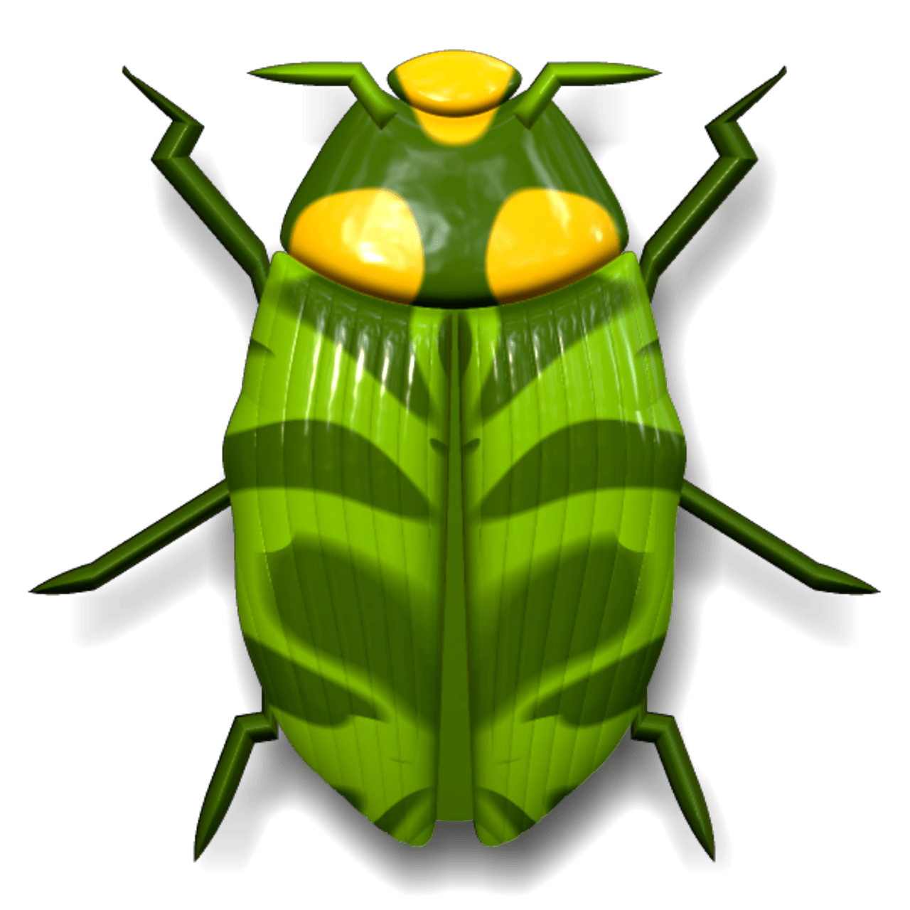 Insects clipart light bug. Ladybug dark and green