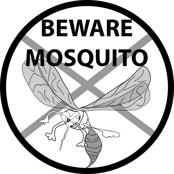Mosquito clipart outline. Beware clip art at