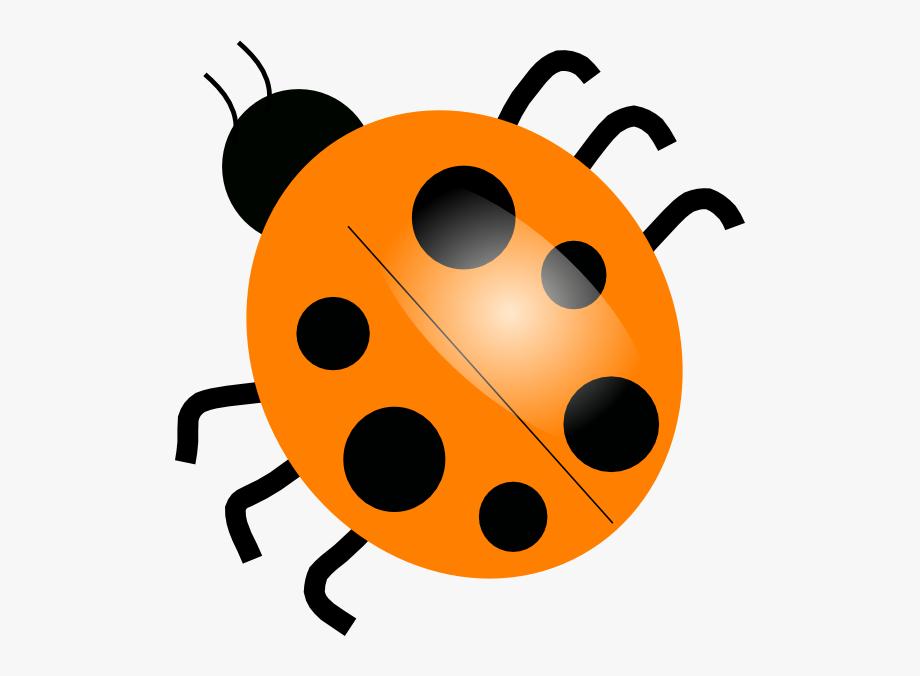 Ladybug clip art free. Insects clipart orange bug