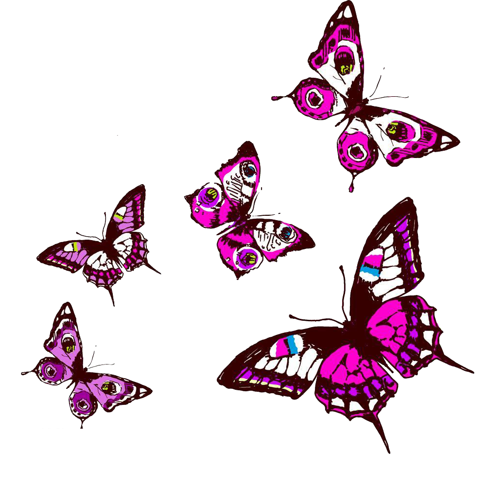Butterfly adobe illustrator clip. Purple clipart insect