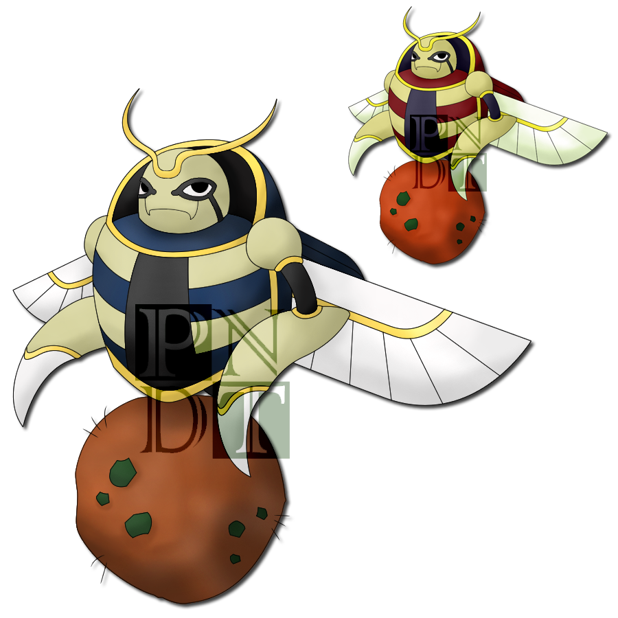 Fakemon sarcorab by psychonyxdorotheos. Insects clipart scarab beetle