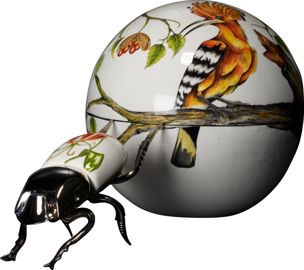 Extra large dung ball. Insects clipart scarab beetle
